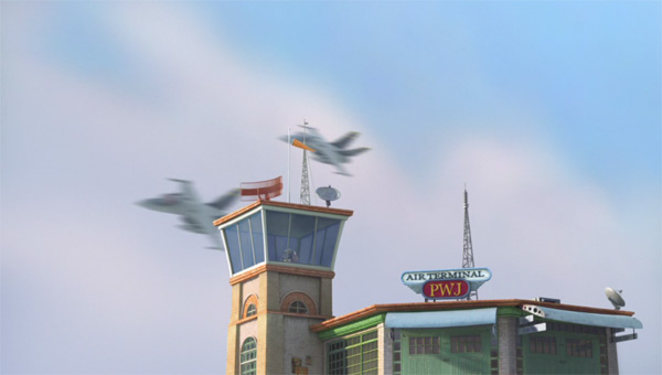 The air traffic control tower in Disney's Planes