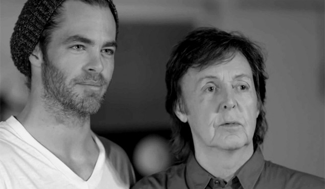 Paul McCartney Chris Pine