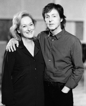 Meryl Streep Paul McCartney