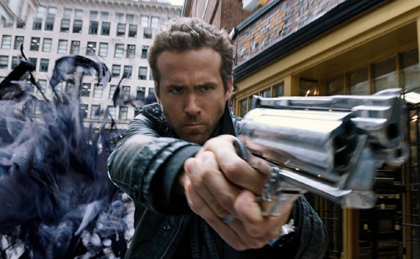 Ryan Reynolds as Nick Walker in R.I.P.D