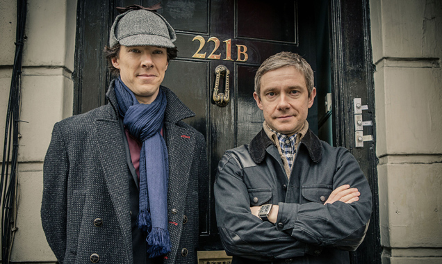 Sherlock stars Benedict Cumberbatch and Martin Freeman