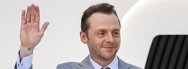 Simon Pegg at the Star Wars Premiere