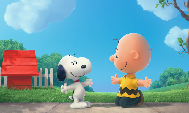 Snoopy and Charlie Brown in Peanuts
