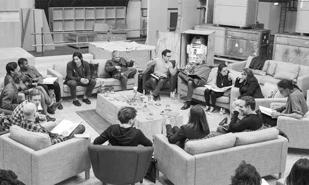 Star Wars episode 7 cast reading