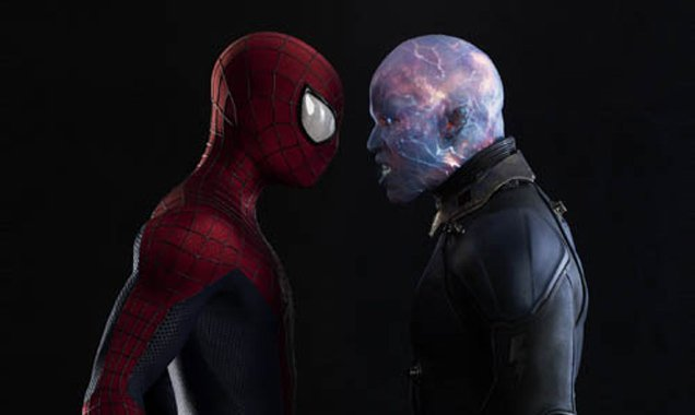 Andrew Garfield, Jamie Foxx, Amazing Spider-Man 2 Still