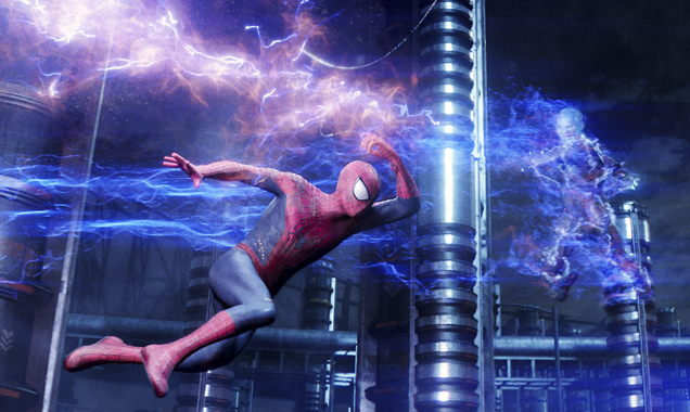 Andrew Garfield, Jamie Foxx, Spider-Man 2 Still