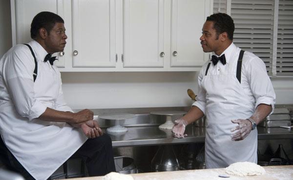 Forest Whitaker and Cuba Gooding Jr in The Butler