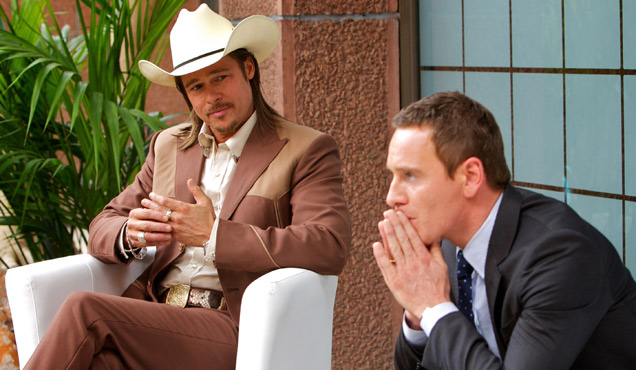Michael Fassbender and Brad Pitt