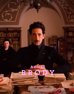 Adrien Brody in The Grand Budapest Hotel