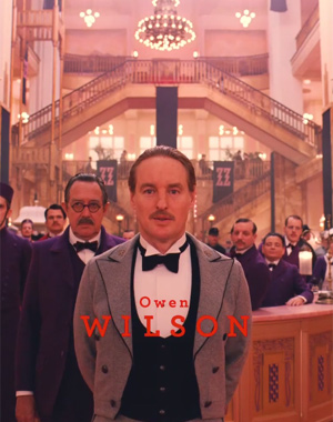 Owen Wilson in 'The Grand Budapest Hotel'