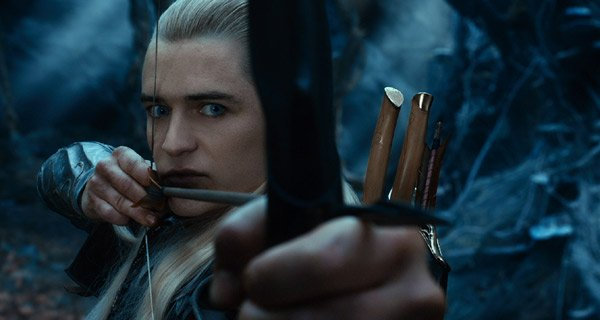 Orlando Bloom as Legolas in The Hobbit: The Desolation Of Smaug