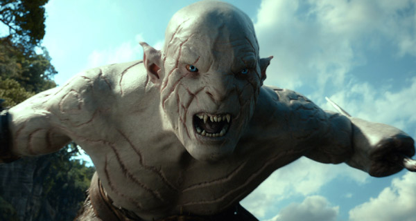 The character Azog in The Hobbit: The Desolation Of Smaug