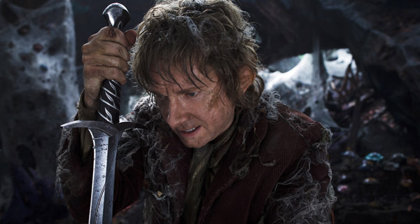 Martin Freeman as the Hobbit Bilbo Baggins in The Hobbit: The Desolation Of Smaug