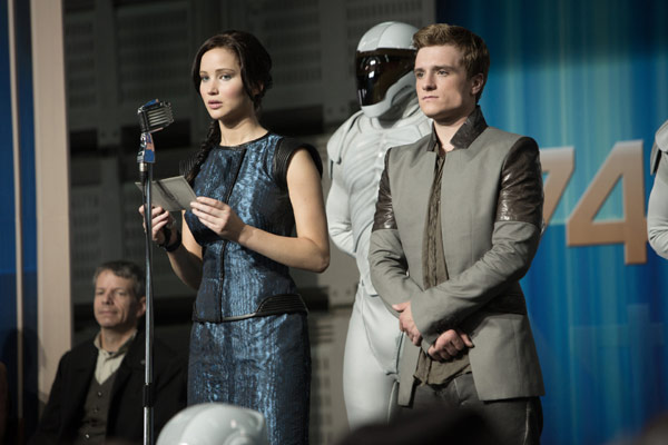 Jennifer Lawrence is Katniss Everdeen in The Hunger Games: Catching Fire
