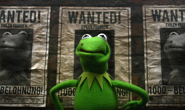 Kermit the frog in Muppets most wanted