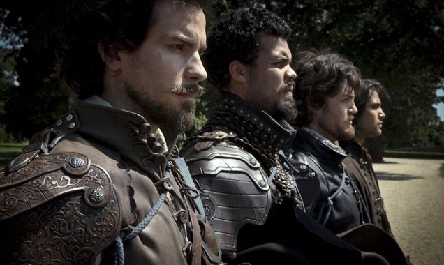 Aramis, Porthos, Athos and D'Artagnon