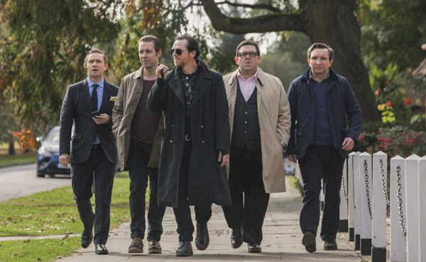 Martin Freeman, Paddy Considine, Simon Pegg, Nick Frost & Eddie Marsan in The World's End
