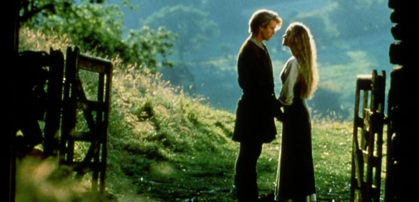 Cary Elwes as Westley and Robin Wright as Princess Buttercup