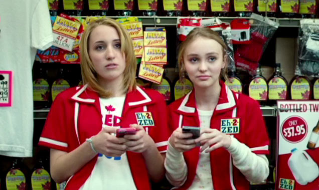 Lily Rose Melody Depp and Harley Quinn Smith in Tusk