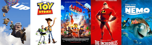 Animated film posters