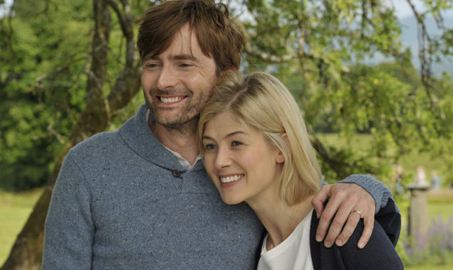 David Tennant [L] and Rosamund Pike [R] in 'What We Did On Our Holiday'
