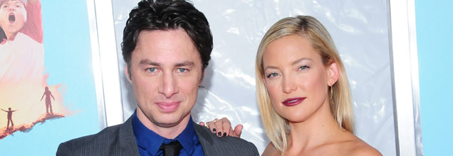 Zach Braff & Kate Hudson at the Wish I Was Here premiere