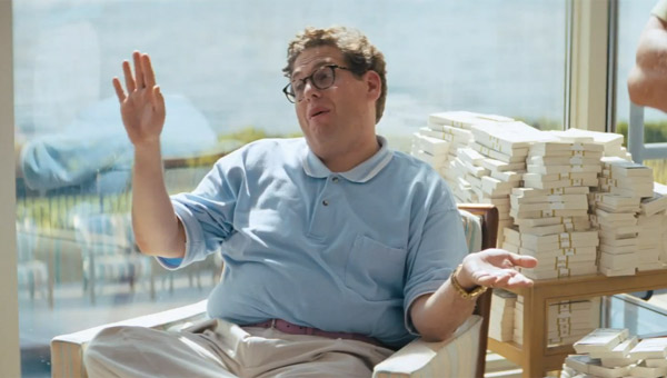 Jonah Hill as Donnie Azoff in The Wolf of Wall Street