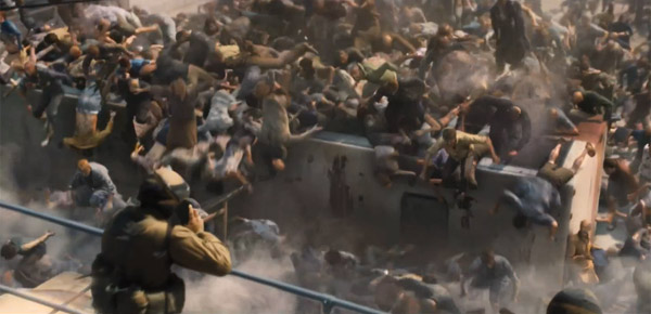 The army attempts to fight back in World War Z