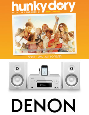 Win A Denon Music System with Hunky Dory - In Cinemas March 2!