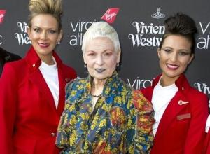 "Vivienne Westwood Unveils ""Extremely Glamorous"" Virgin Atlantic Aircrew Uniforms"