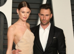 Adam LevineAnd Behati Prinsloo Share First Photo Of Baby Dusty Rose