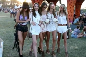 Alessandra Ambrosio Co-Ordinates With Stylish Friends At Coachella 2015