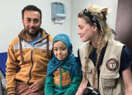 Amber Heard Raising Money For Syrian Refugee
