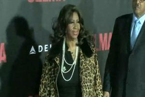 Aretha Franklin And Tyler Perry Pose On The Red Carpet For The 'Selma' New York Premiere