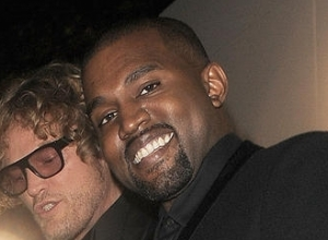 Kanye West and Peter Dundas