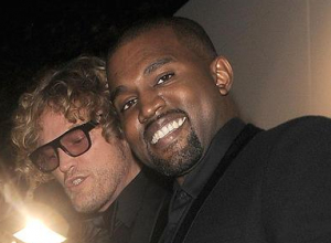 Kanye West and Peter Dundas