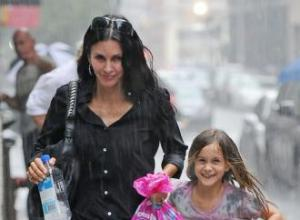 Courteney Cox's daughter nervous about becoming a sister