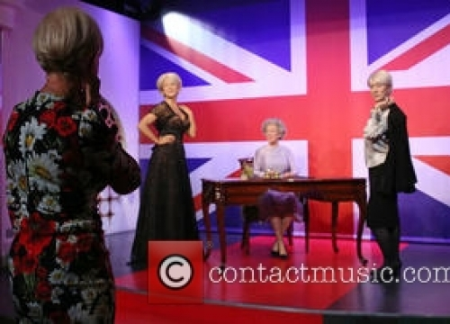 Helen Mirren Meets Three Waxworks