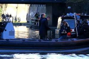 Daniel Craig And Rory Kinnear Joined By Film Crew In Thames Scene During 'Spectre' Filming - Part 6