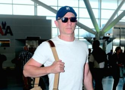 Daniel Craig Drinks Medicine To Cure Hangover