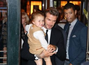 Harper Beckham wears Victoria Beckham's heels