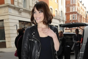 Gemma Arterton Signs Autographs At BBC Radio 1 Studios
