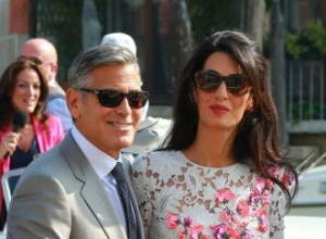 Amal 'takes care' of George Clooney