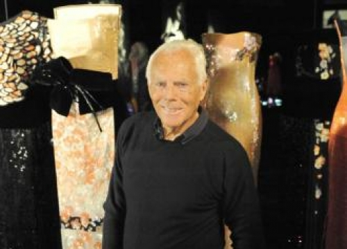 Giorgio Armani had doubts he'd succeed in the fashion industry