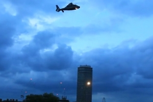 A Helicopter Hovers Over London During Filming Of James Bond Movie 'Spectre' - Part 3