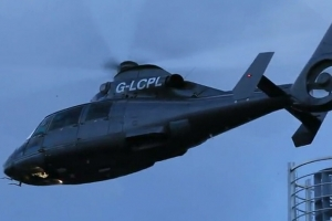 Close Up Shot Of James Bond Helicopter During London 'Spectre' Filming - Part 4