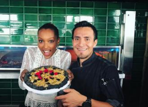 Jasmine Tookes Teams Up With Chef To Make A Gold Pizza Worth $3,000