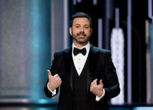 Jimmy Kimmel Appears On Talk Show With Son Billy