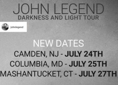 John Legend Adds New Dates To 'Darkness And Light' Tour