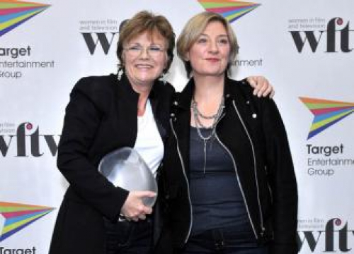 Dame Julie Walters Talks To Photo Of Late Victoria Wood